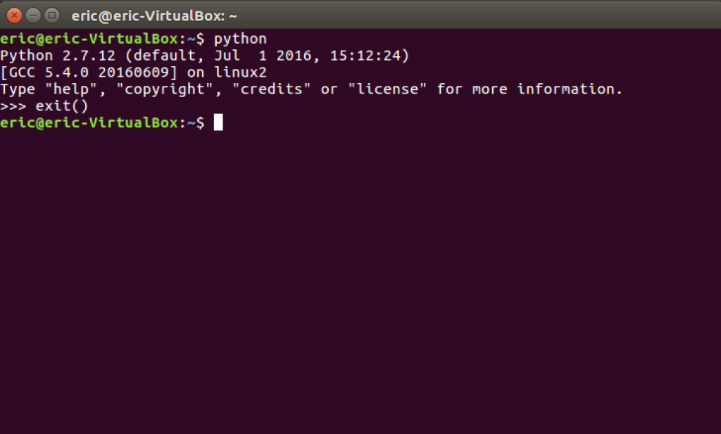 Installing Python on linux - exit